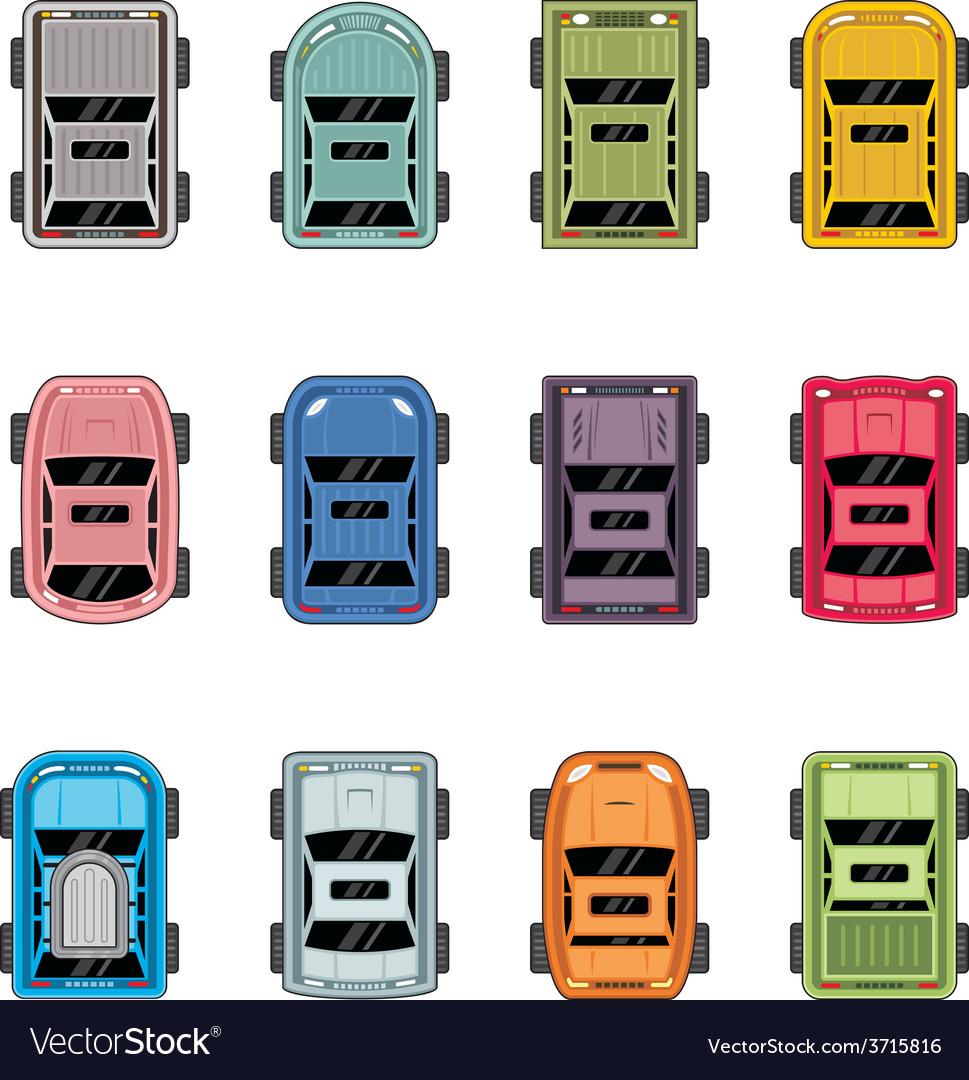 Top view automobiles vector | Price: 1 Credit (USD $1)