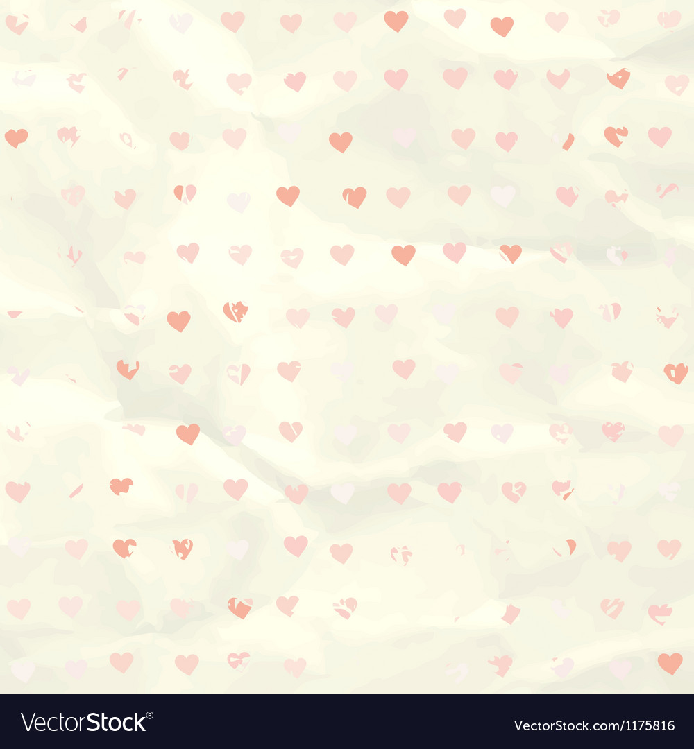 Watercolor heart pattern on paper texture eps 8 vector | Price: 1 Credit (USD $1)