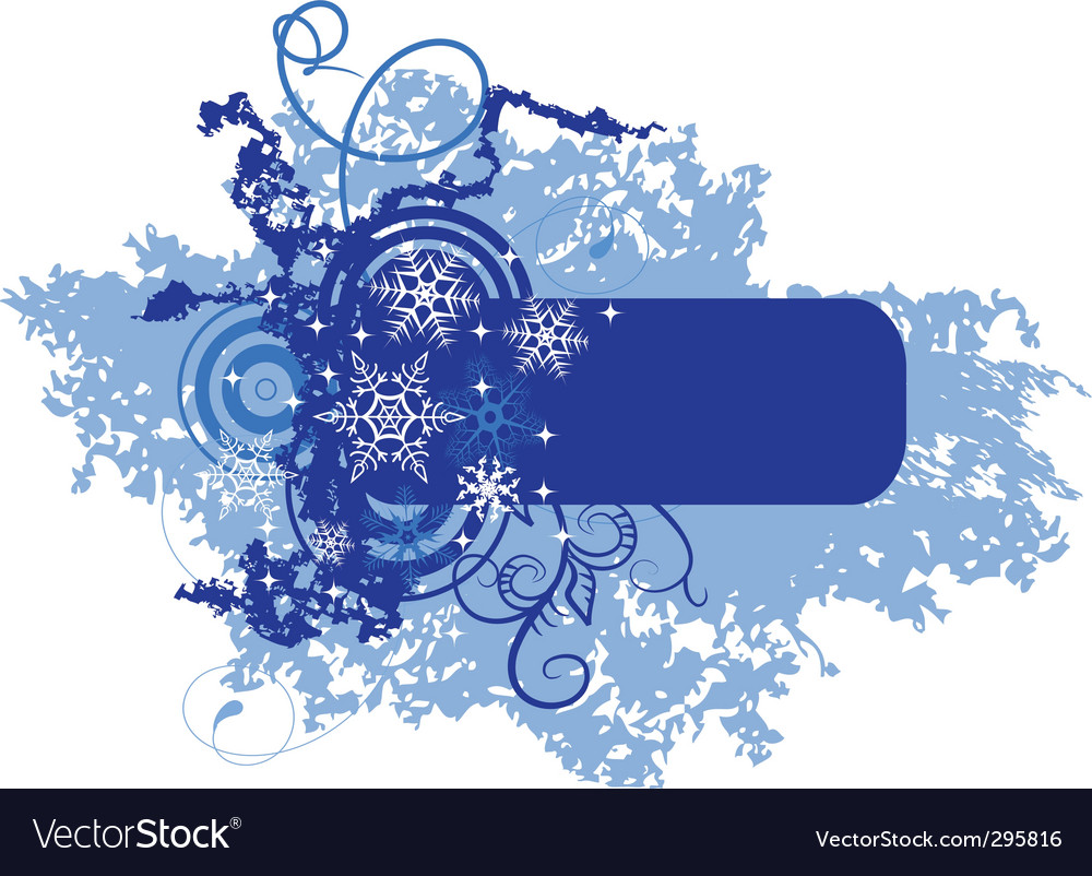 Winter banner with snowflakes illustration vector | Price: 1 Credit (USD $1)