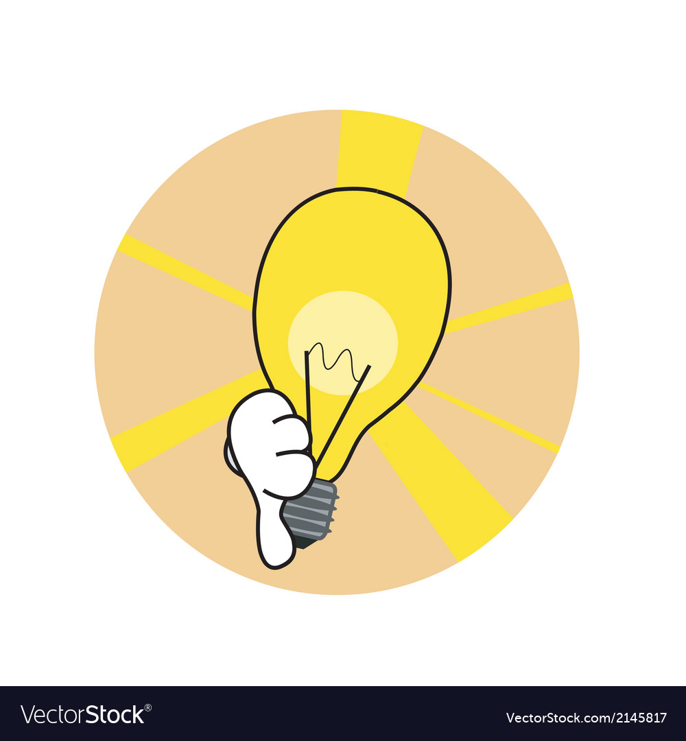 Bad idea lamp vector | Price: 1 Credit (USD $1)