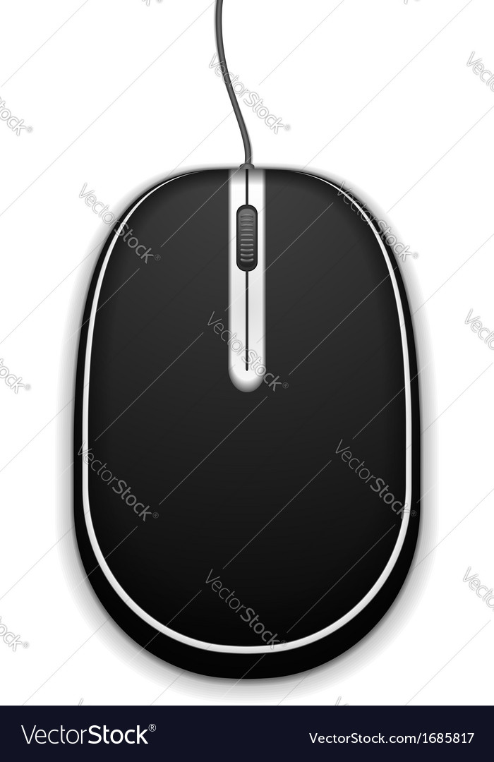 Black computer mouse vector | Price: 1 Credit (USD $1)