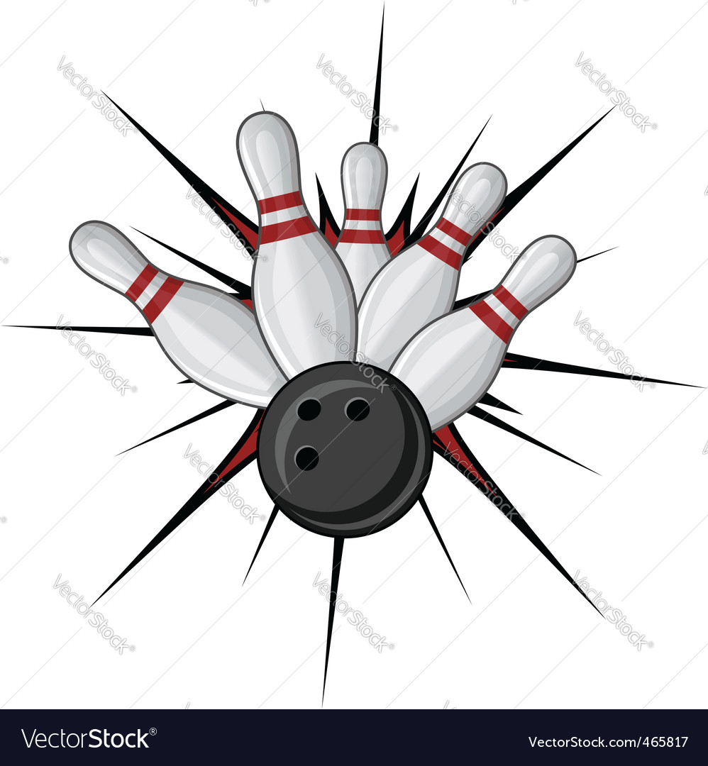 Bowling symbol vector | Price: 1 Credit (USD $1)