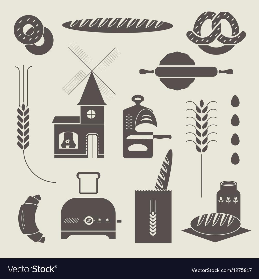 Bread icons vector | Price: 3 Credit (USD $3)