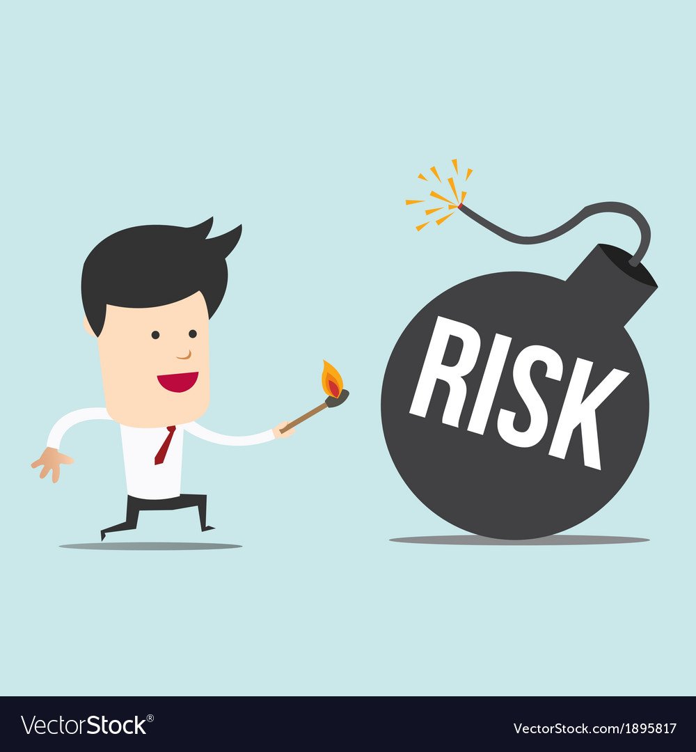 Business man and spark risk bomb vector | Price: 1 Credit (USD $1)