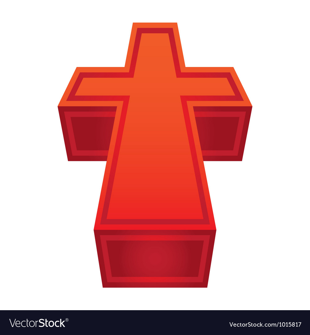 Christian cross vector | Price: 1 Credit (USD $1)