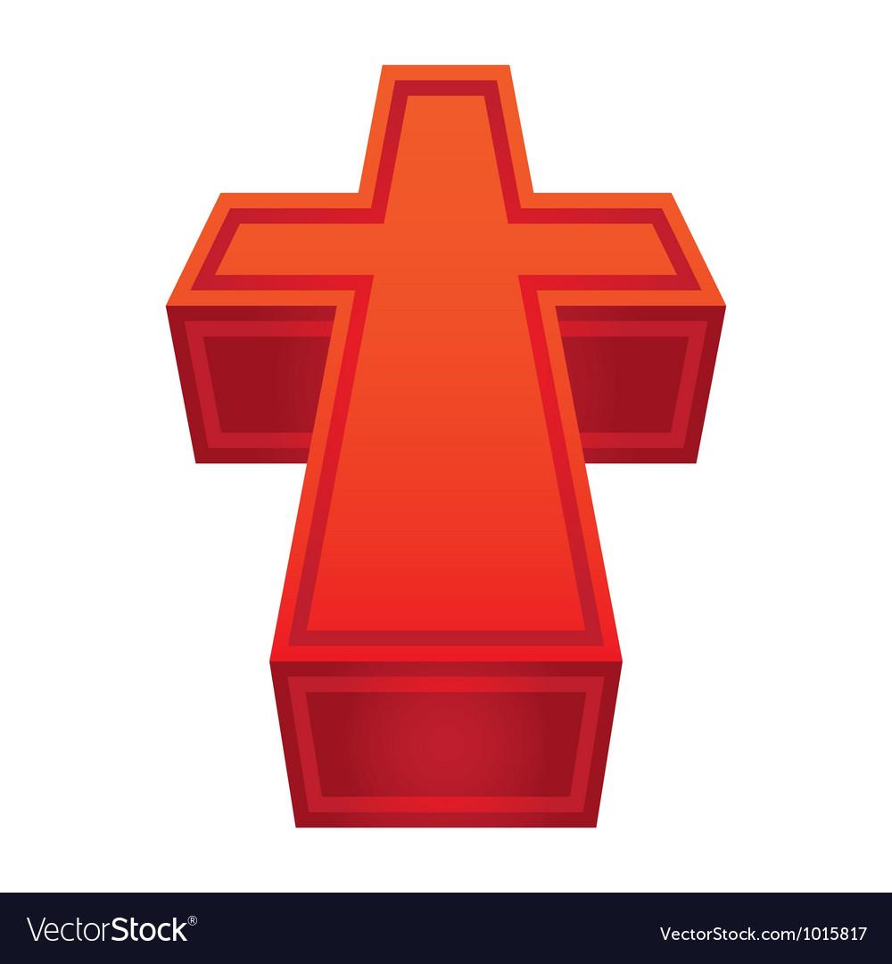 Christian cross vector | Price: 1 Credit (USD $1)