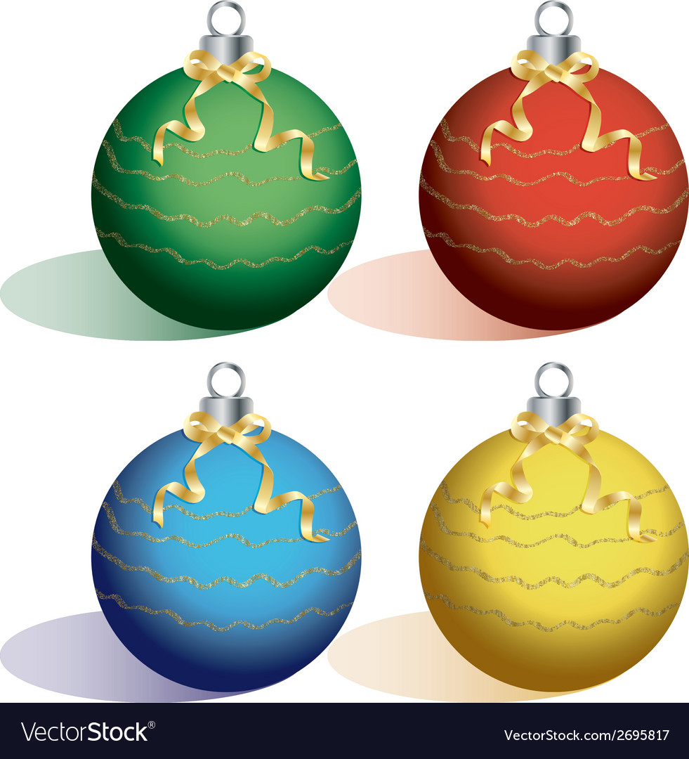 Christmas ball on white background cutout vector | Price: 1 Credit (USD $1)