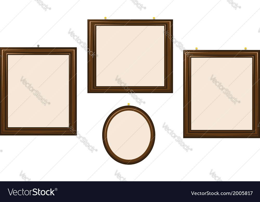 Empty wooden frames vector | Price: 1 Credit (USD $1)