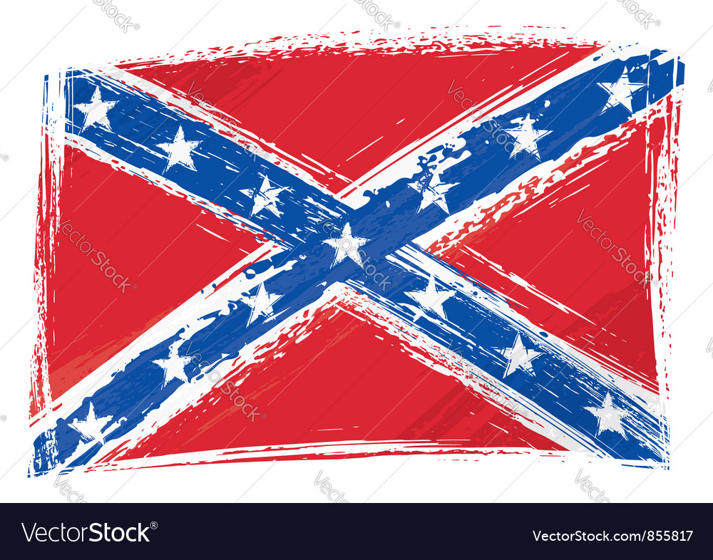 Grunge confederate flag vector | Price: 1 Credit (USD $1)