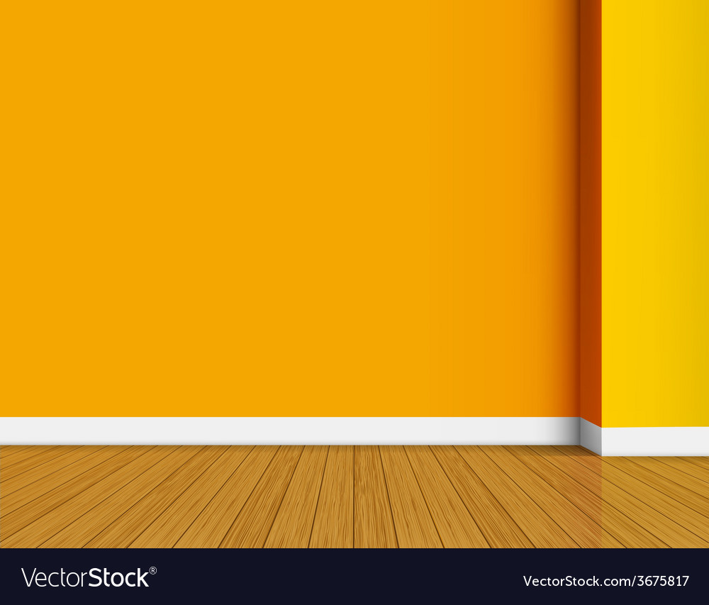 Orange empty interior background vector | Price: 1 Credit (USD $1)