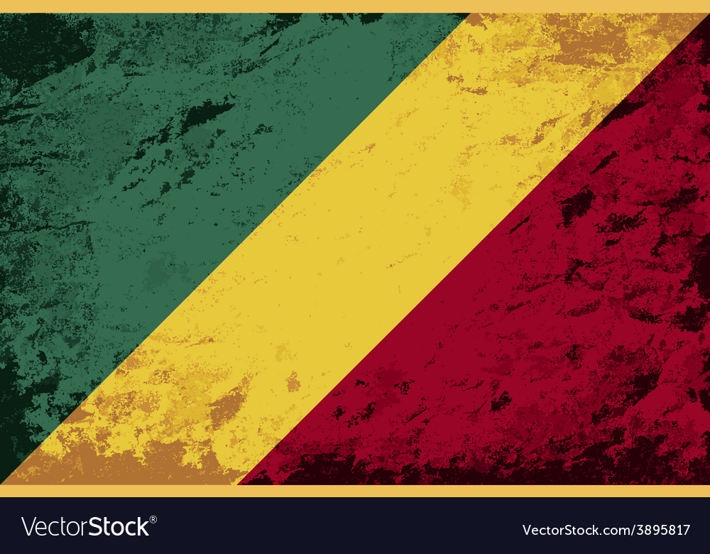 Republic of the congo flag grunge background vector | Price: 1 Credit (USD $1)