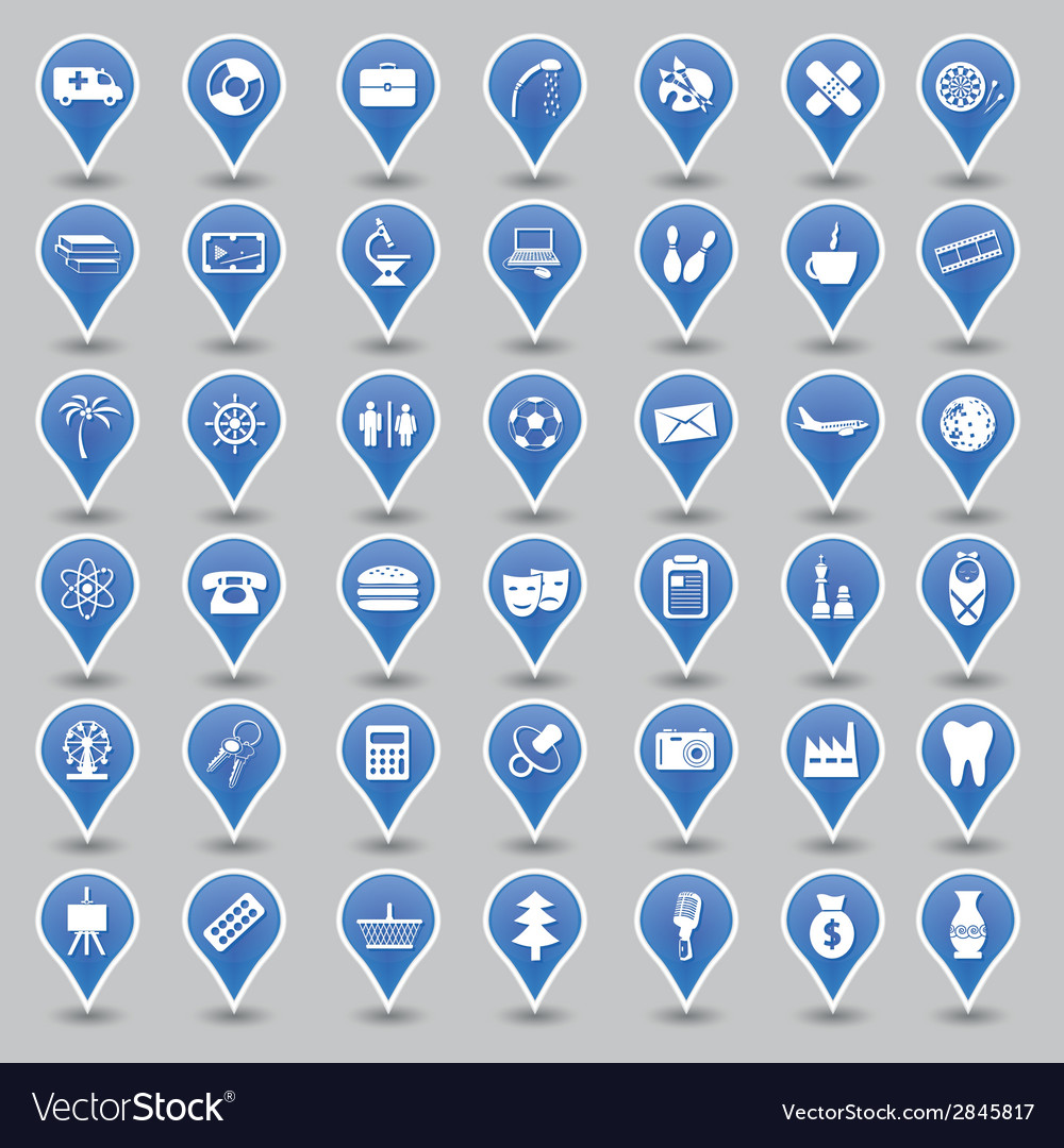 Sign icons vector | Price: 1 Credit (USD $1)