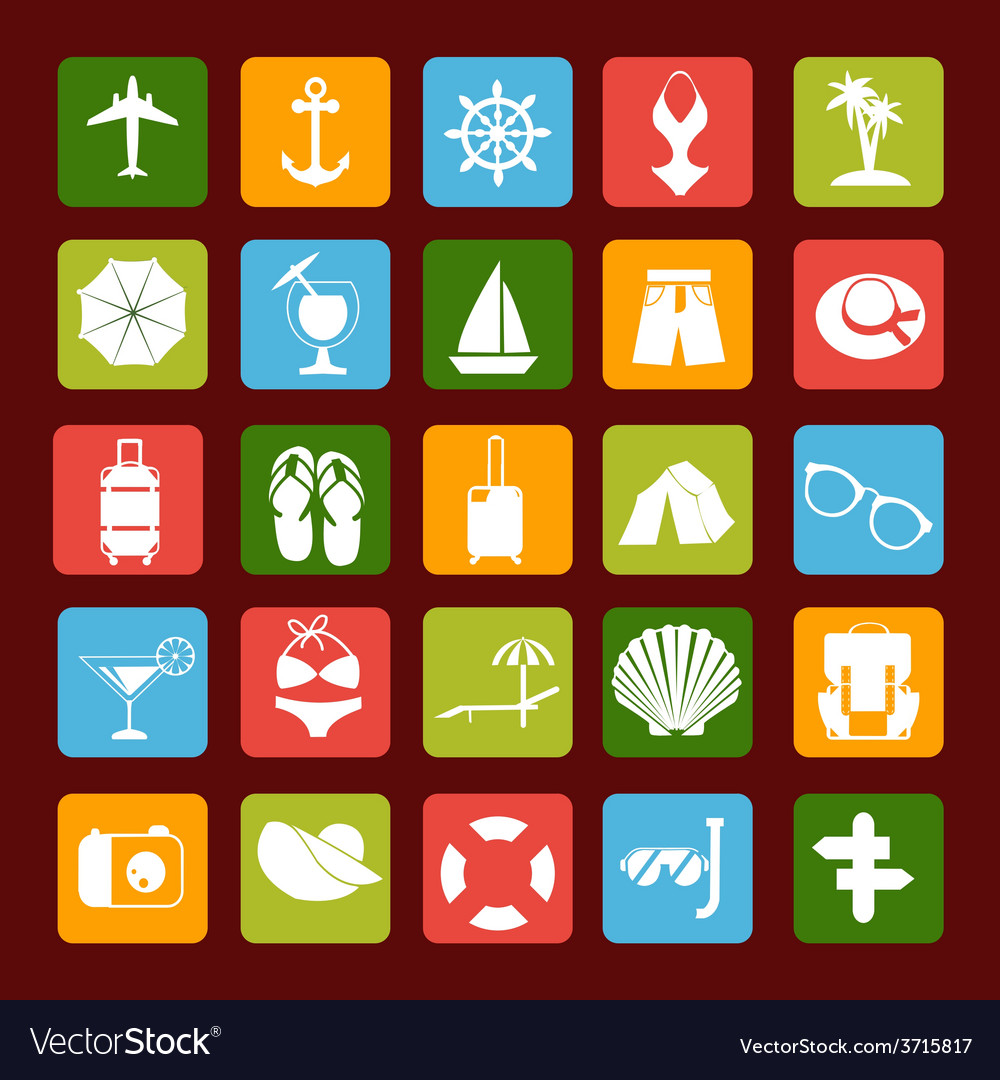 Travel icons 3 38 vector | Price: 1 Credit (USD $1)