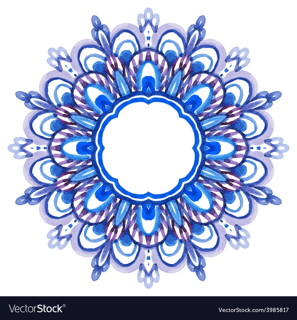 Watercolor hand drawn mandala vector | Price: 1 Credit (USD $1)