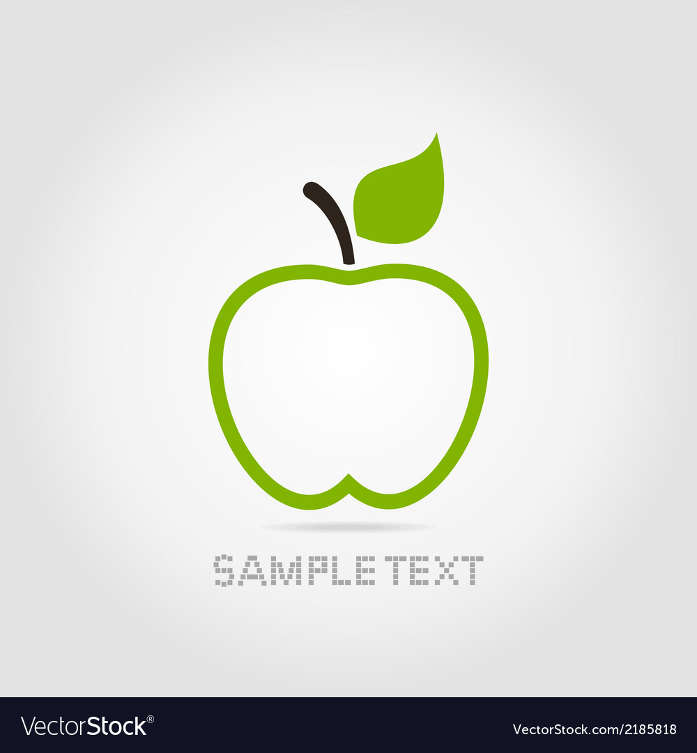 Apple green vector | Price: 1 Credit (USD $1)