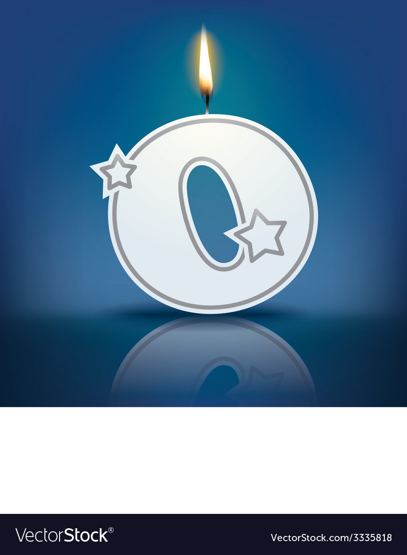 Candle letter o with flame vector | Price: 1 Credit (USD $1)