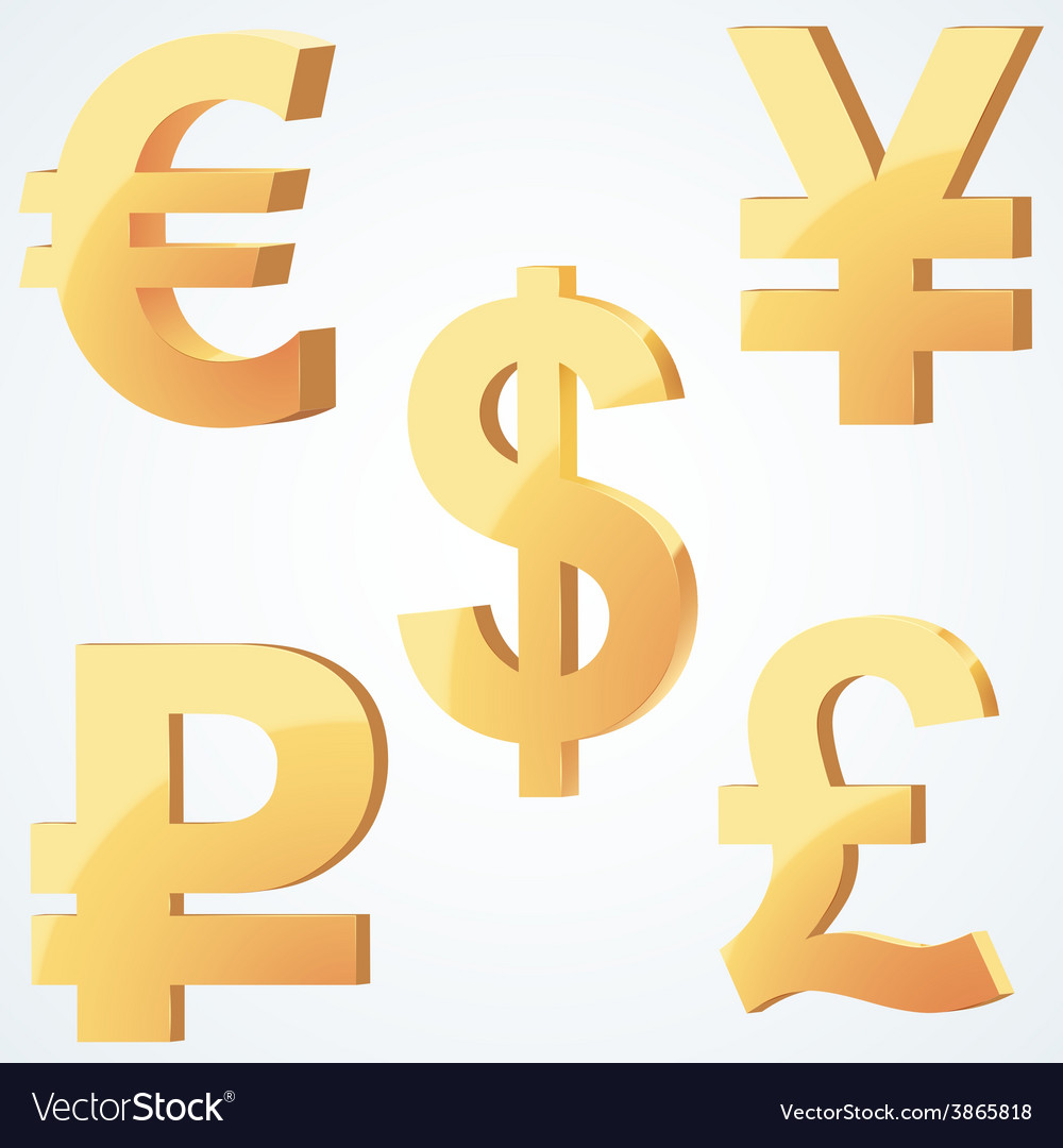 Golden symbol of currency vector | Price: 3 Credit (USD $3)