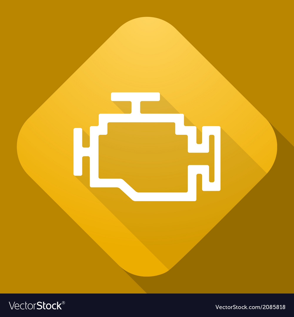 Icon of engine with a long shadow vector | Price: 1 Credit (USD $1)