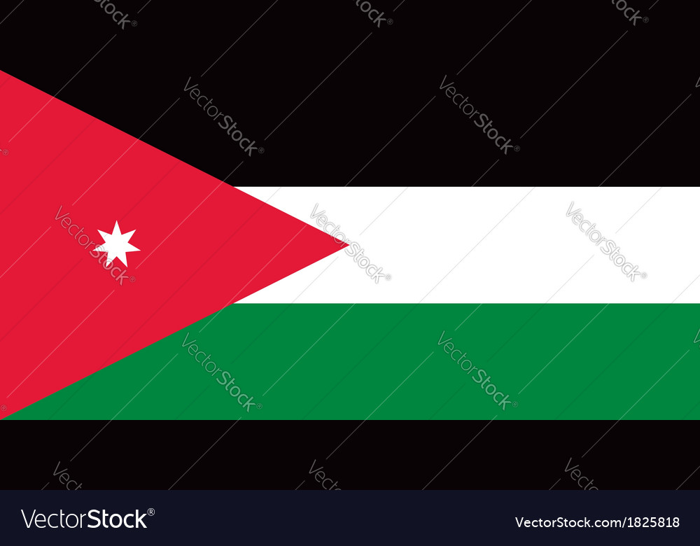 Jordan flag vector | Price: 1 Credit (USD $1)