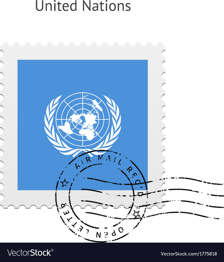 United nations flag postage stamp vector | Price: 1 Credit (USD $1)