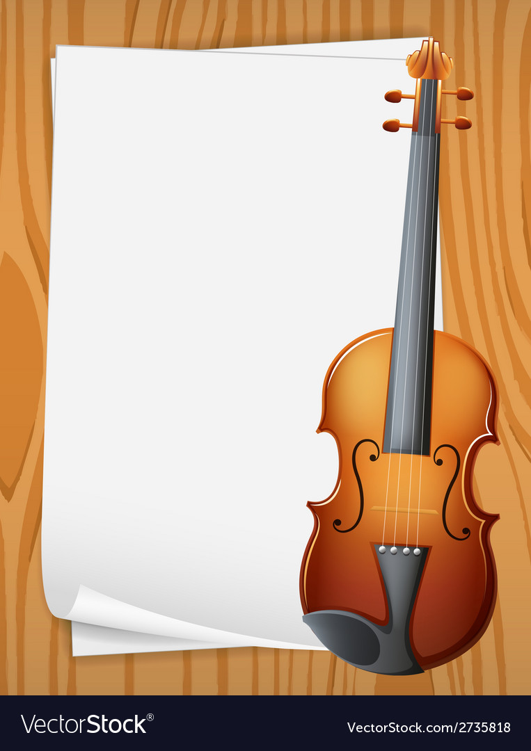 Violin banner vector | Price: 1 Credit (USD $1)