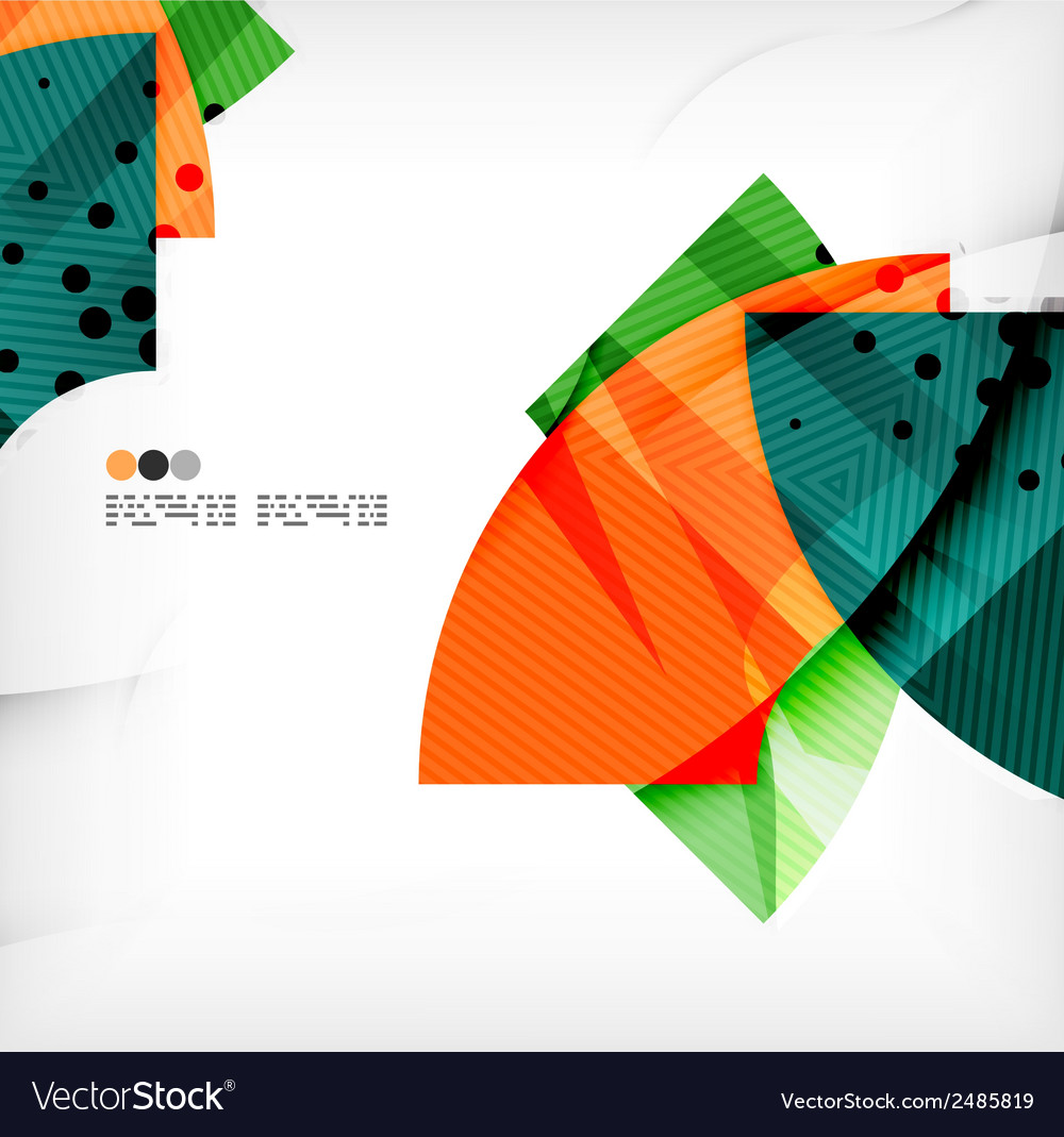 Abstract geometric shapes background vector | Price: 1 Credit (USD $1)