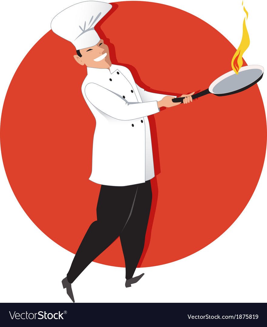 Asian chef cooking vector | Price: 1 Credit (USD $1)