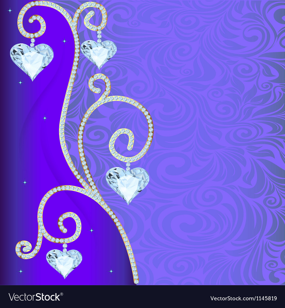 Background with ornament with precious stones and vector | Price: 1 Credit (USD $1)