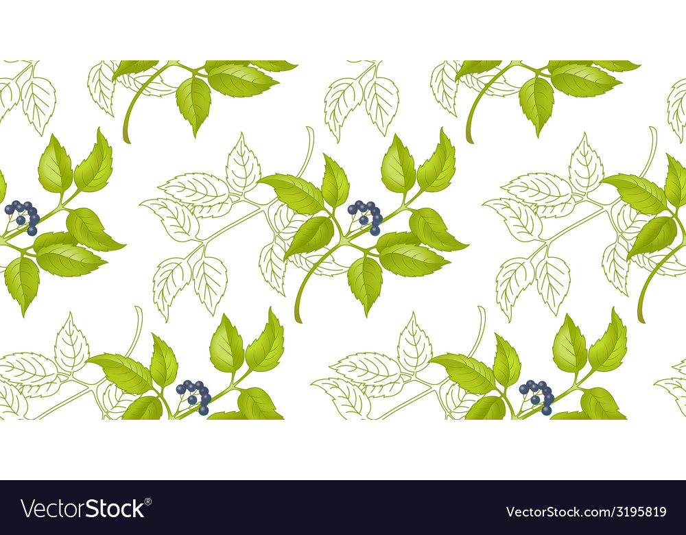 Floral-berry pattern vector | Price: 1 Credit (USD $1)