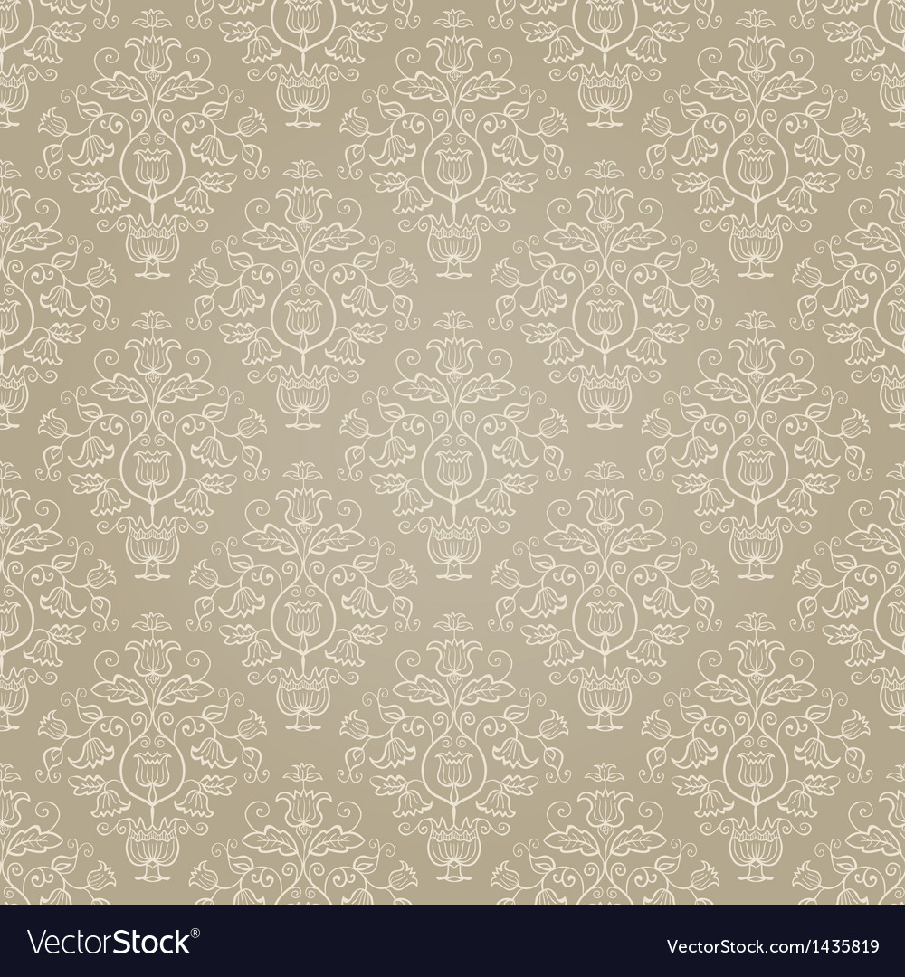 Golden retro seamless pattern vector | Price: 1 Credit (USD $1)