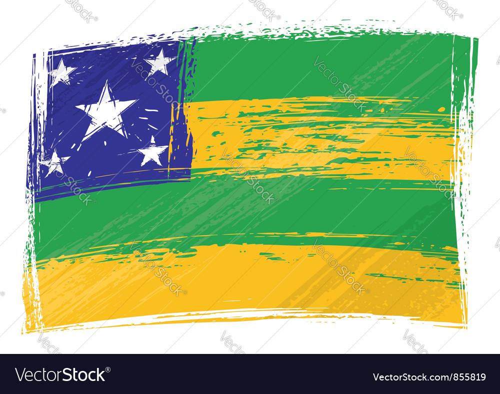 Grunge sergipe flag vector