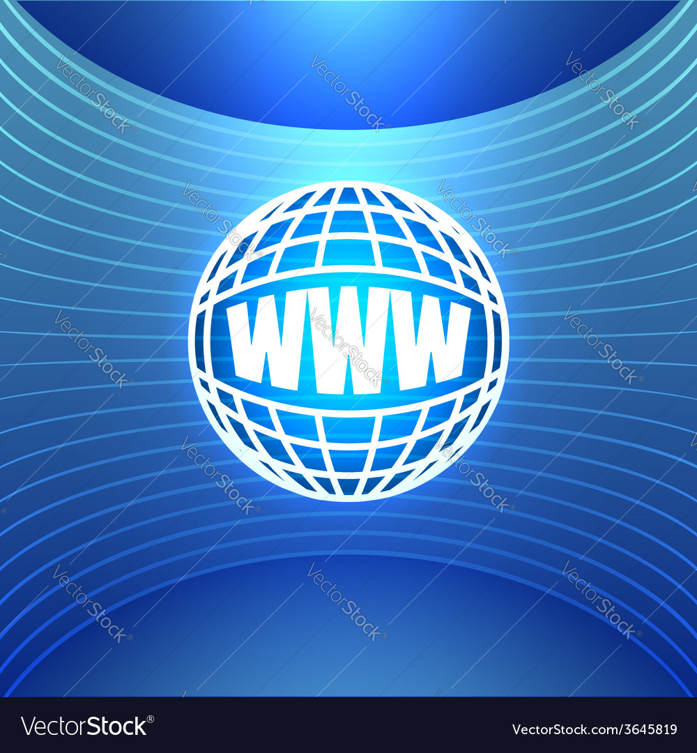 Icon world wide web on the abstract blue vector | Price: 1 Credit (USD $1)