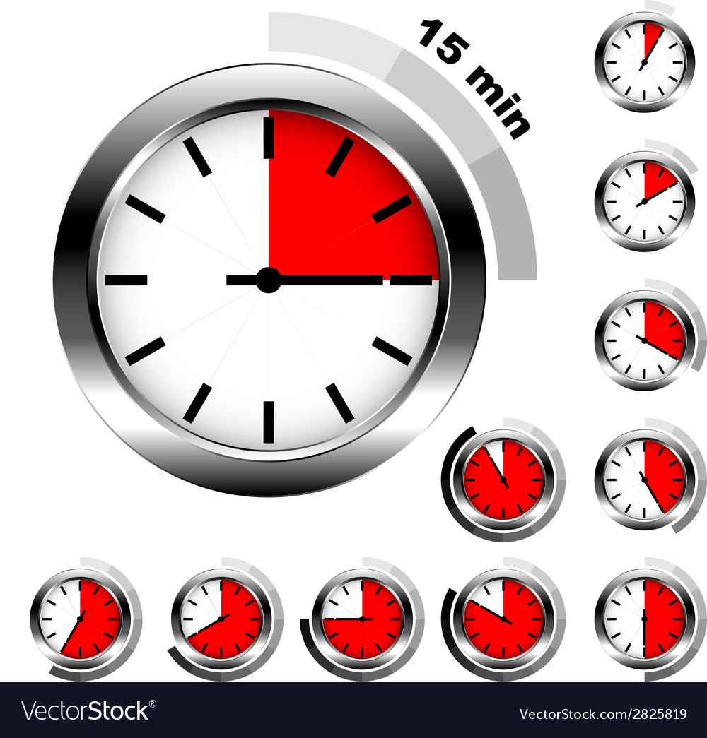 Simple timers vector | Price: 1 Credit (USD $1)