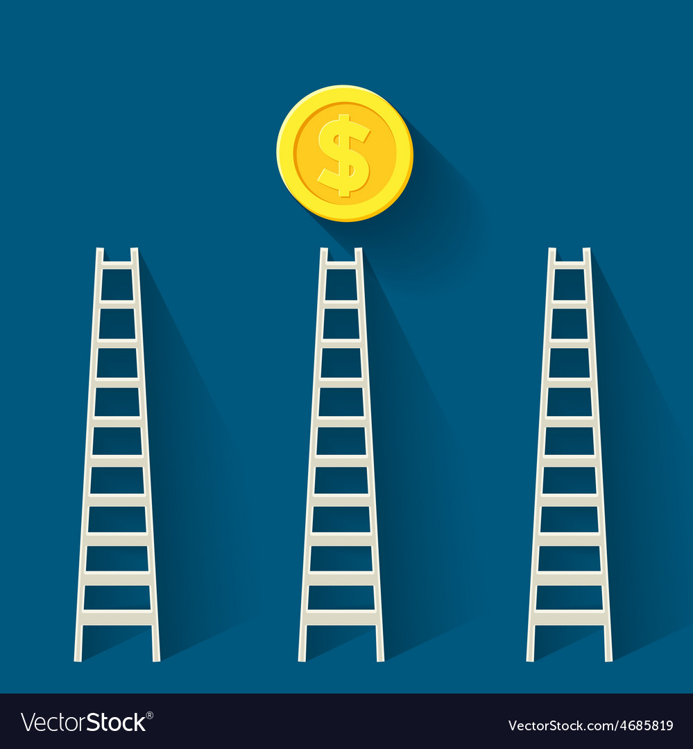 Steps to money vector | Price: 1 Credit (USD $1)