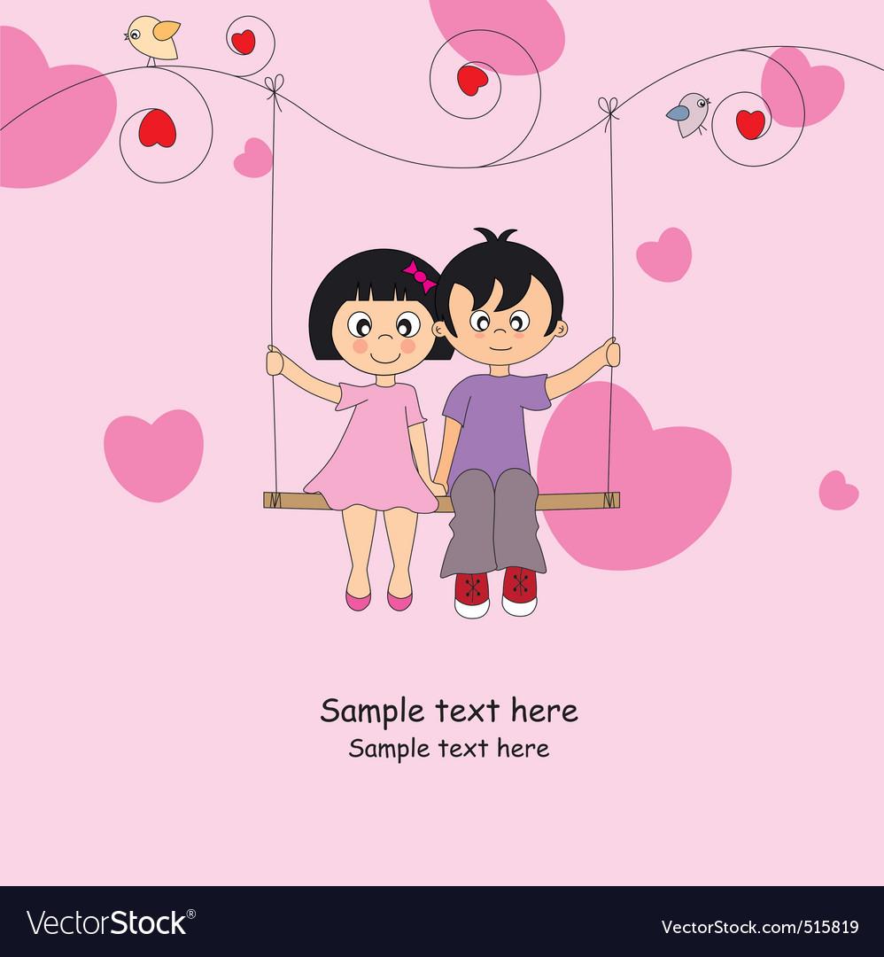 Valentine card vector | Price: 1 Credit (USD $1)