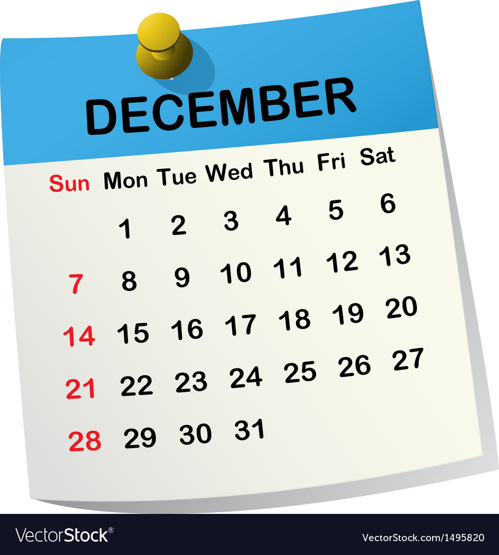 2014 calendar for december vector | Price: 1 Credit (USD $1)