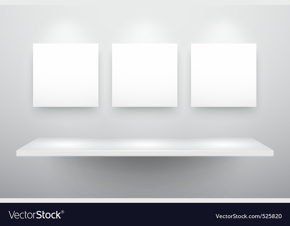 3d isolated empty shelf vector | Price: 1 Credit (USD $1)