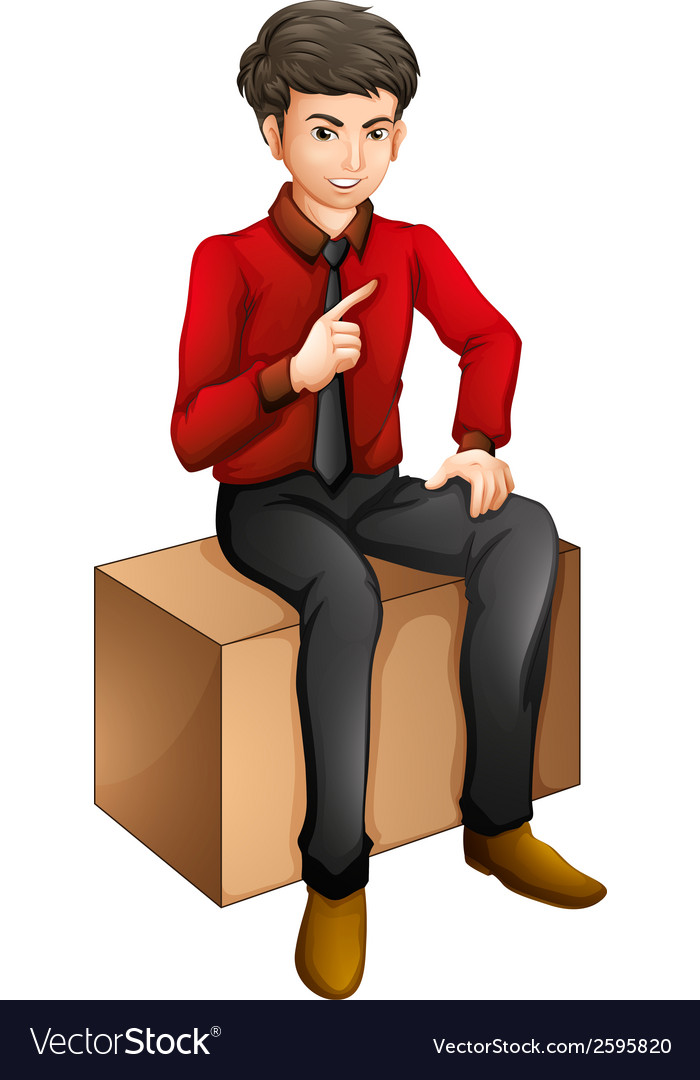 A man sitting on a wooden bench vector | Price: 1 Credit (USD $1)