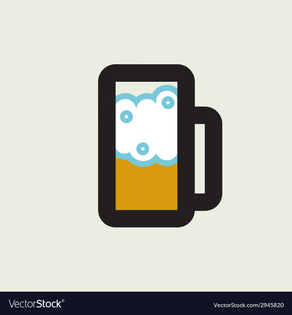 Beer glass icon vector | Price: 1 Credit (USD $1)