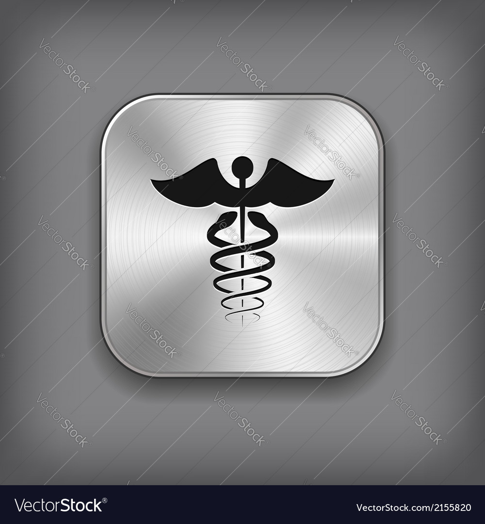 Caduceus medical symbol icon vector | Price: 1 Credit (USD $1)
