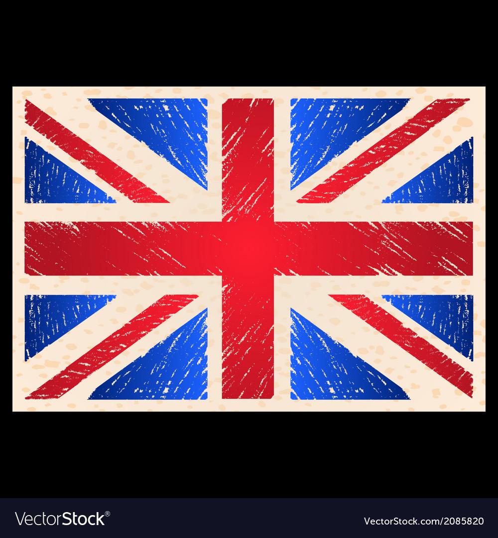 Grunge england flag vector | Price: 1 Credit (USD $1)
