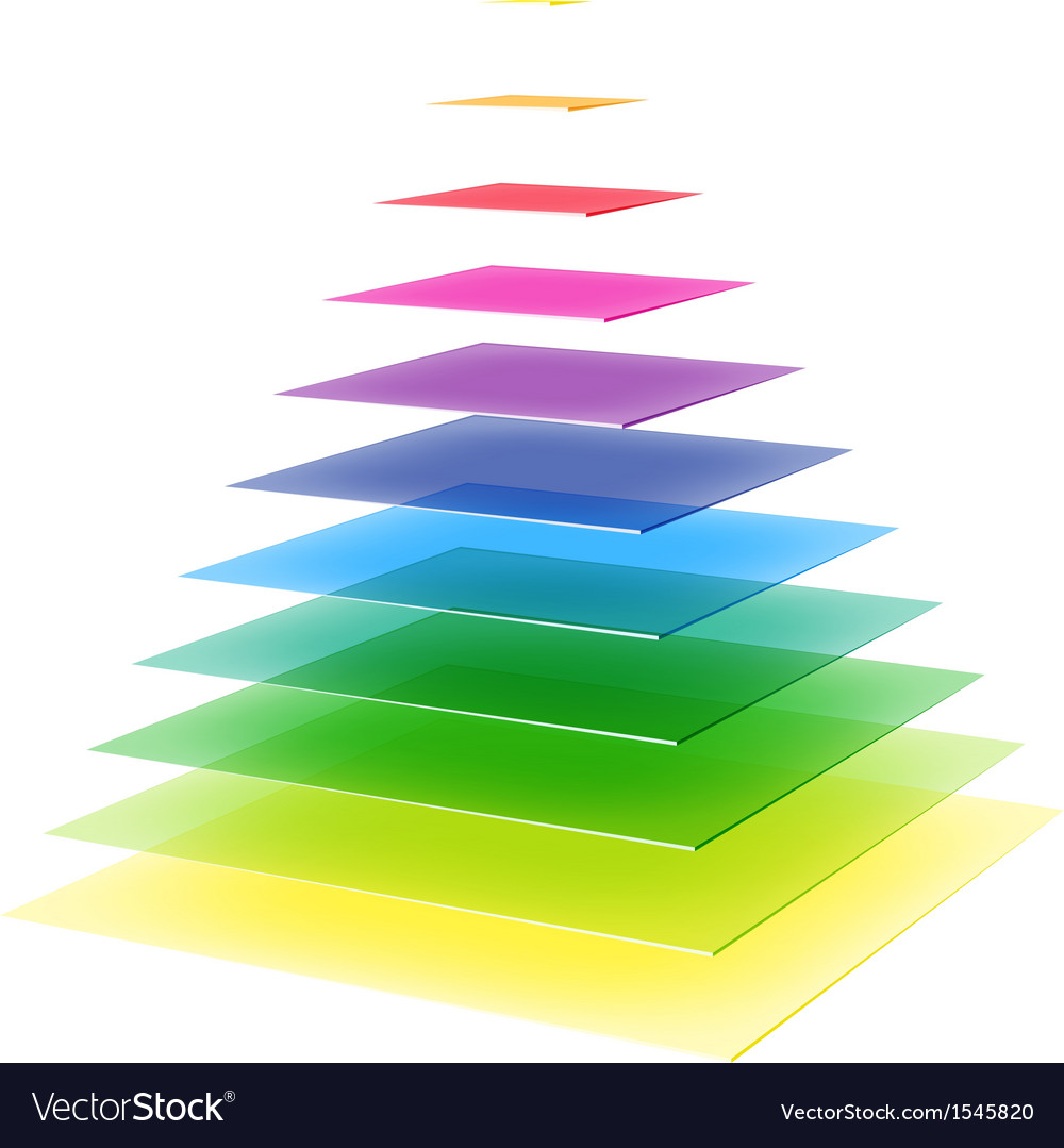 Layered rainbow pyramid vector | Price: 1 Credit (USD $1)