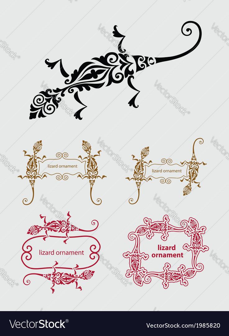 Lizard ornament decoration vector | Price: 1 Credit (USD $1)