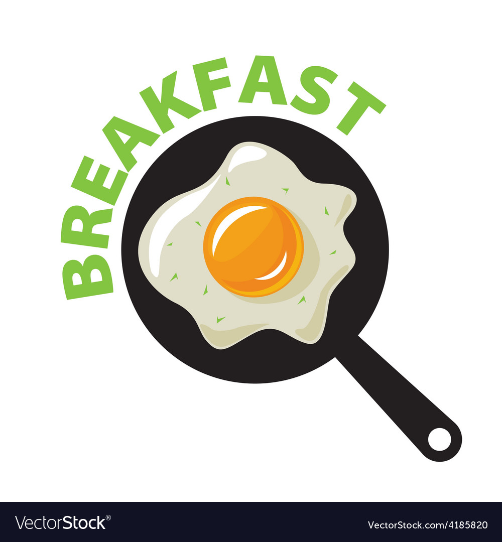 Logo fried eggs for breakfast vector | Price: 1 Credit (USD $1)