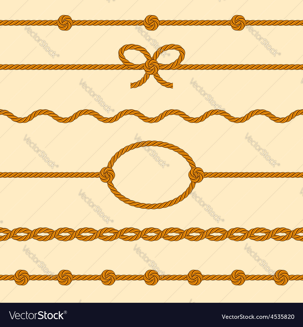 Set of rope borders vector | Price: 1 Credit (USD $1)