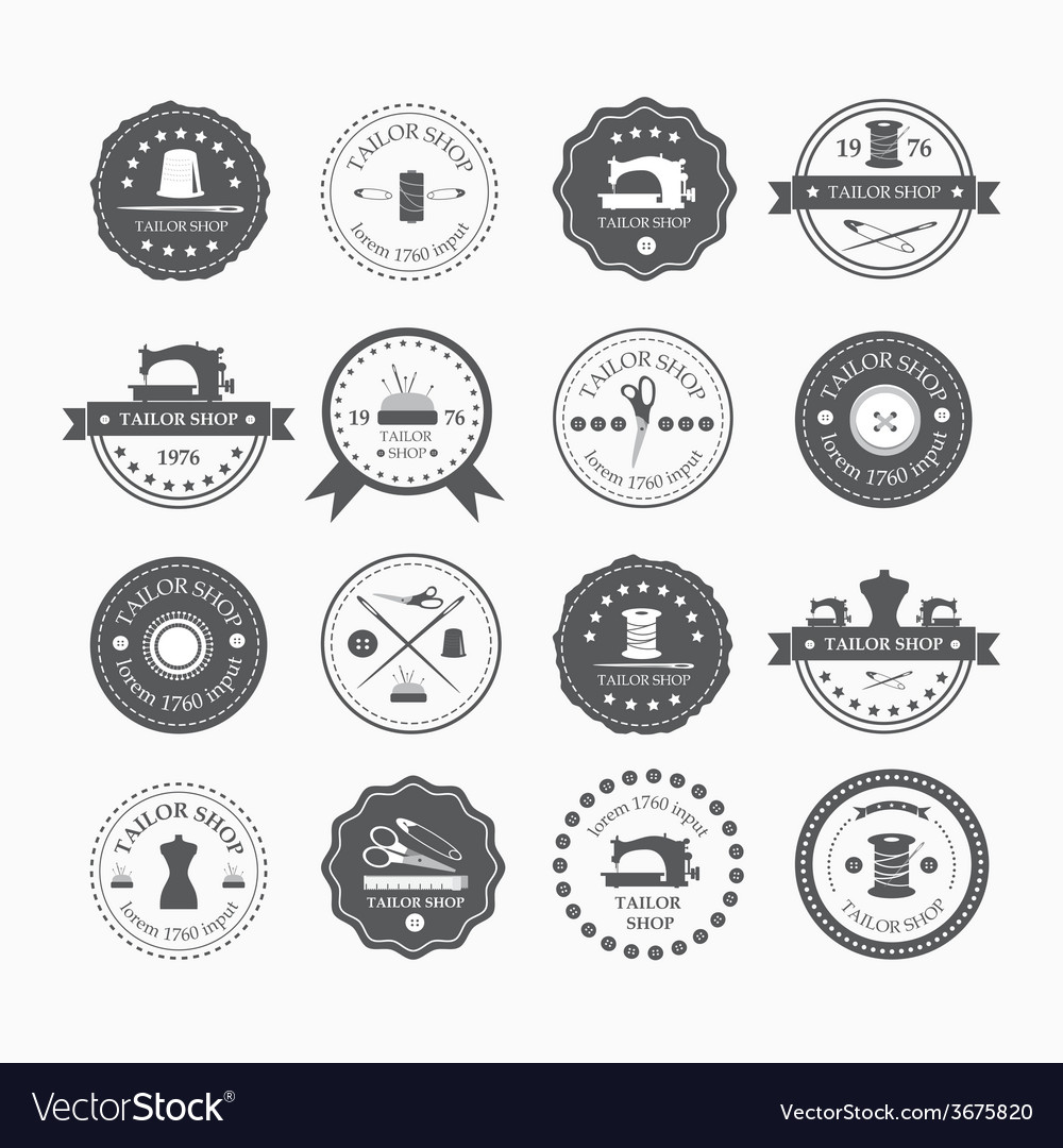Set of vintage tailor labels vector | Price: 1 Credit (USD $1)
