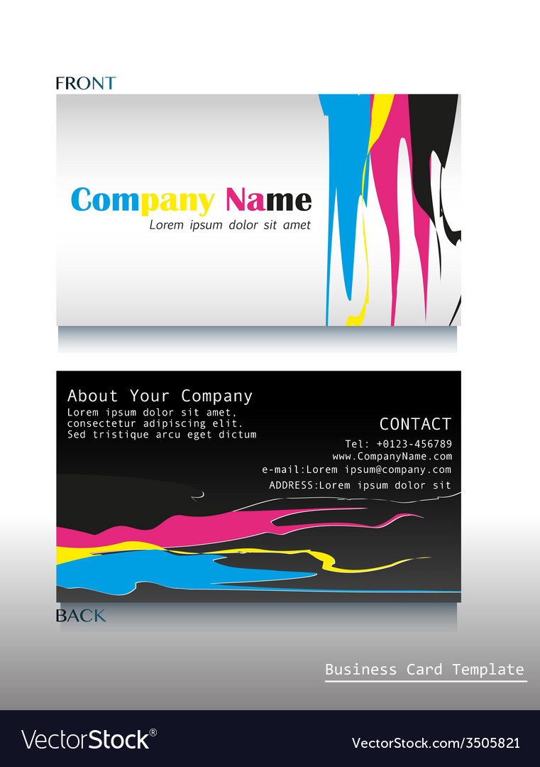 A calling card artwork vector | Price: 1 Credit (USD $1)