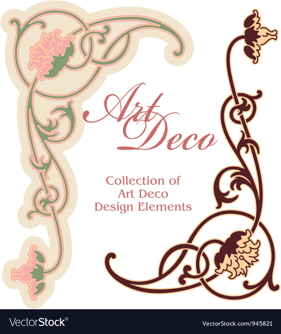 Art deco design element - corner vector | Price: 1 Credit (USD $1)