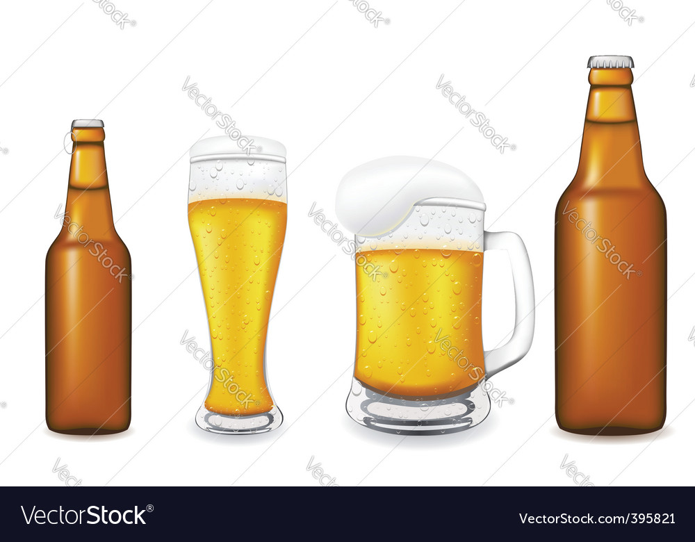 Beer glass vector | Price: 1 Credit (USD $1)
