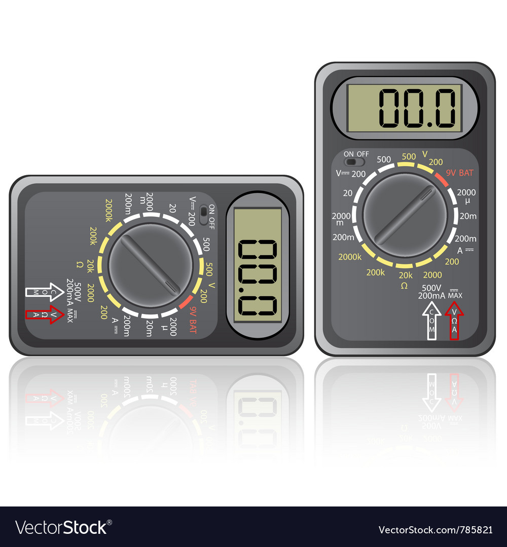 Digital multimeter isolated on white background vector | Price: 1 Credit (USD $1)
